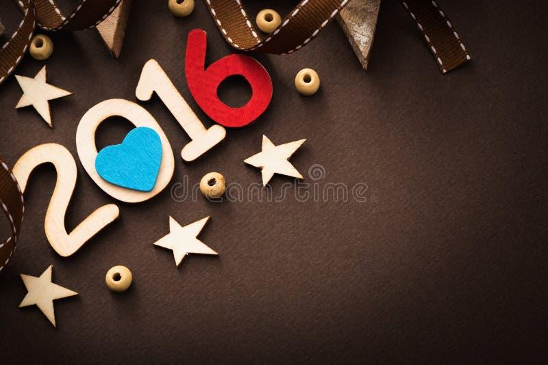 Ευτυχές νέο έτος του 2016 στοκ φωτογραφίες
