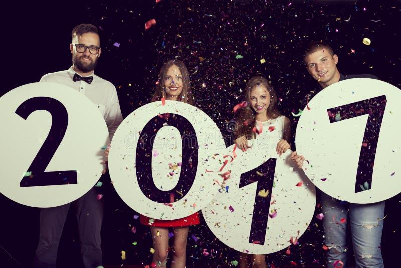 Ευτυχές νέο έτος του 2017 στοκ εικόνα
