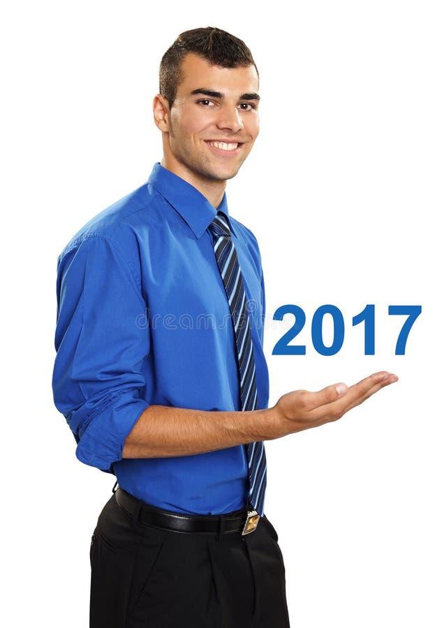 Ευτυχές νέο έτος του 2017 στοκ φωτογραφία