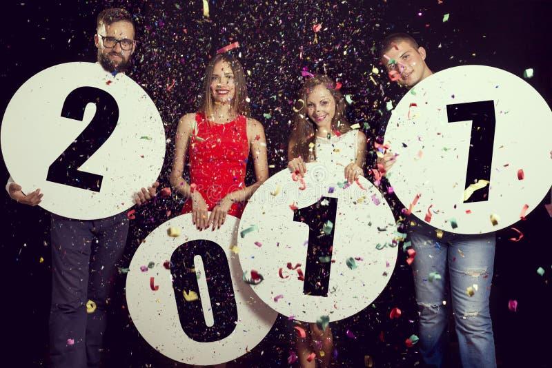 Ευτυχές νέο έτος του 2017 στοκ εικόνες