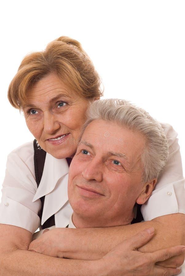 Ευτυχές παλαιό ζεύγος στοκ φωτογραφία