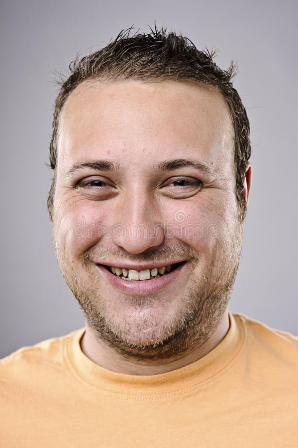 Ευτυχές πορτρέτο χαμόγελου στοκ εικόνα με δικαίωμα ελεύθερης χρήσης