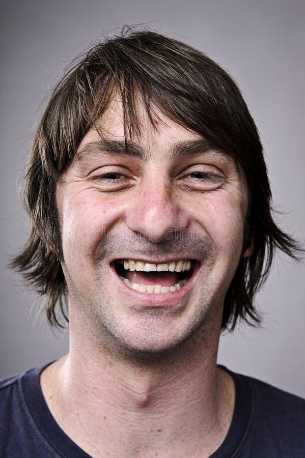 Ευτυχές πορτρέτο χαμόγελου στοκ φωτογραφία