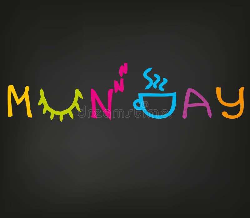 ευτυχές πρωί Δευτέρας διανυσματική απεικόνιση