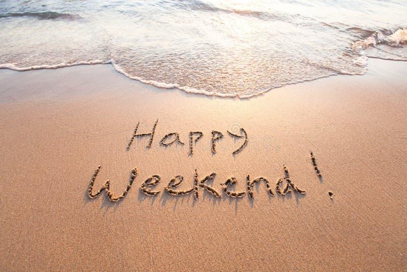 ευτυχές Σαββατοκύριακ&om στοκ φωτογραφίες