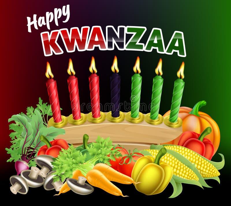 Ευτυχές σημάδι Kwanzaa διανυσματική απεικόνιση