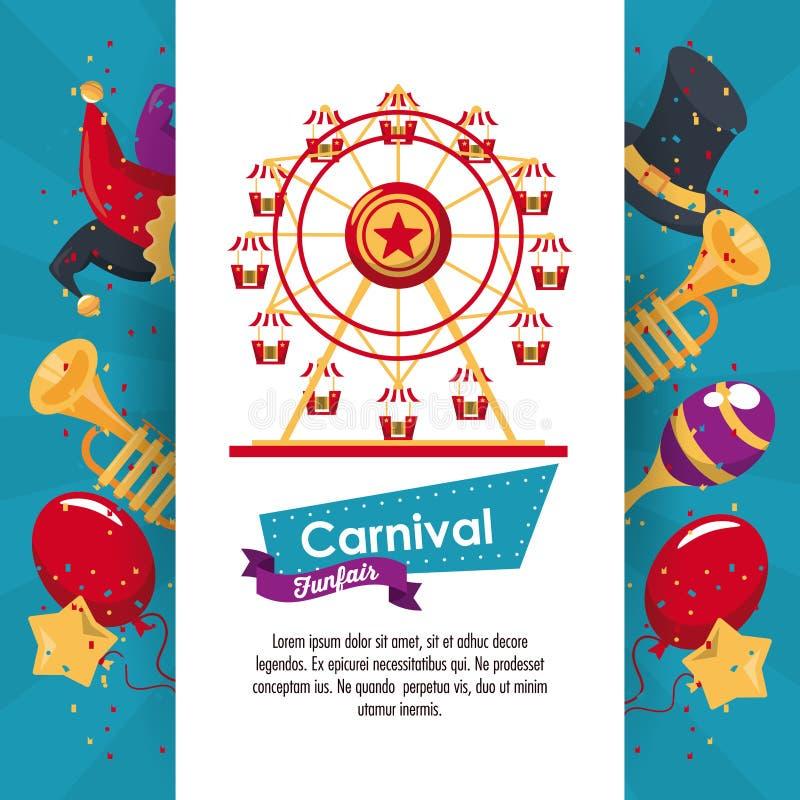 Ευτυχές σχέδιο καρναβαλιού ελεύθερη απεικόνιση δικαιώματος