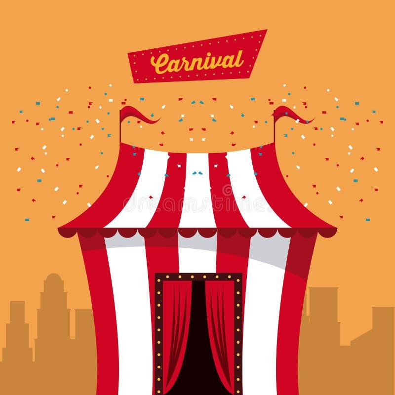 Ευτυχές σχέδιο καρναβαλιού απεικόνιση αποθεμάτων