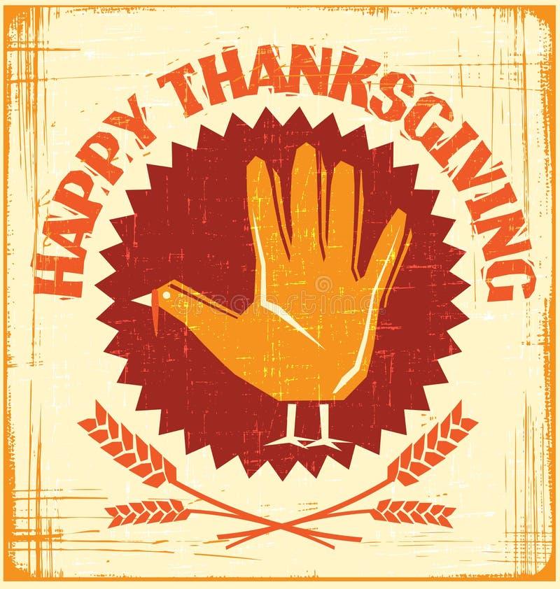 Ευτυχές σχέδιο καρτών ημέρας των ευχαριστιών απεικόνιση αποθεμάτων