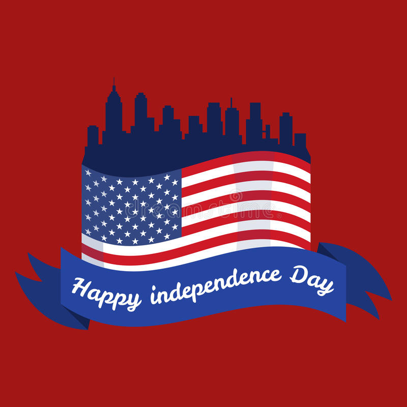 Ευτυχές τέταρτο Ιουλίου, διανυσματικό της illustraionης σχεδίου ημέρας της ανεξαρτησίας διανυσματική απεικόνιση