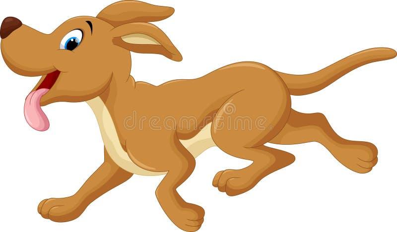 ευτυχές τρέξιμο σκυλιών απεικόνιση αποθεμάτων