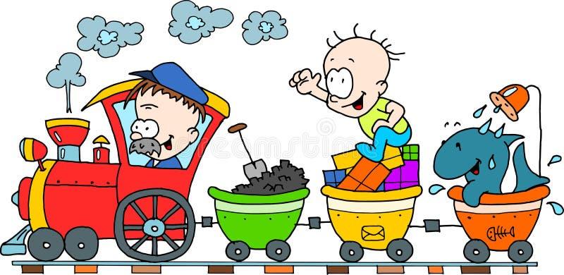 ευτυχές τραίνο στοκ φωτογραφίες