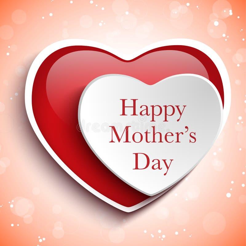 Ευτυχές υπόβαθρο καρδιών ημέρας μητέρων ελεύθερη απεικόνιση δικαιώματος