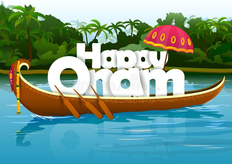 Ευτυχές υπόβαθρο ταπετσαριών Onam ελεύθερη απεικόνιση δικαιώματος