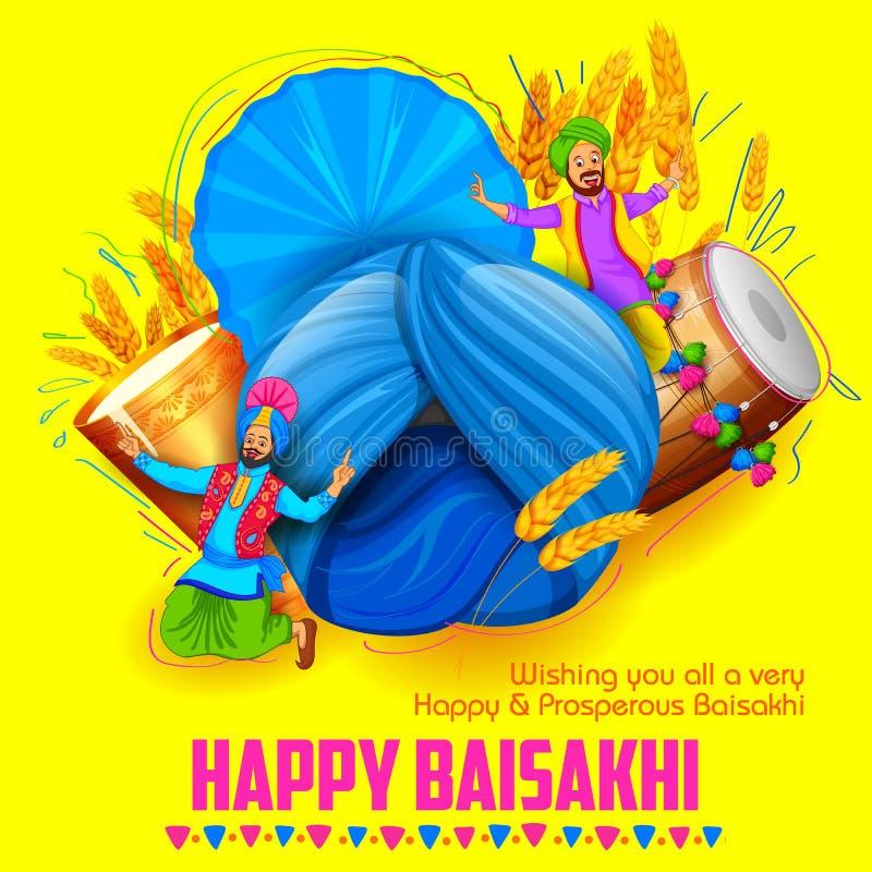 Ευτυχές υπόβαθρο Baisakhi ελεύθερη απεικόνιση δικαιώματος