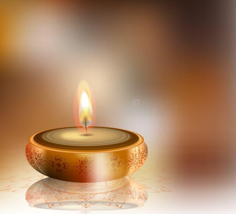 Ευτυχές υπόβαθρο Diwali με το διάστημα για το σχέδιό σας διανυσματική απεικόνιση