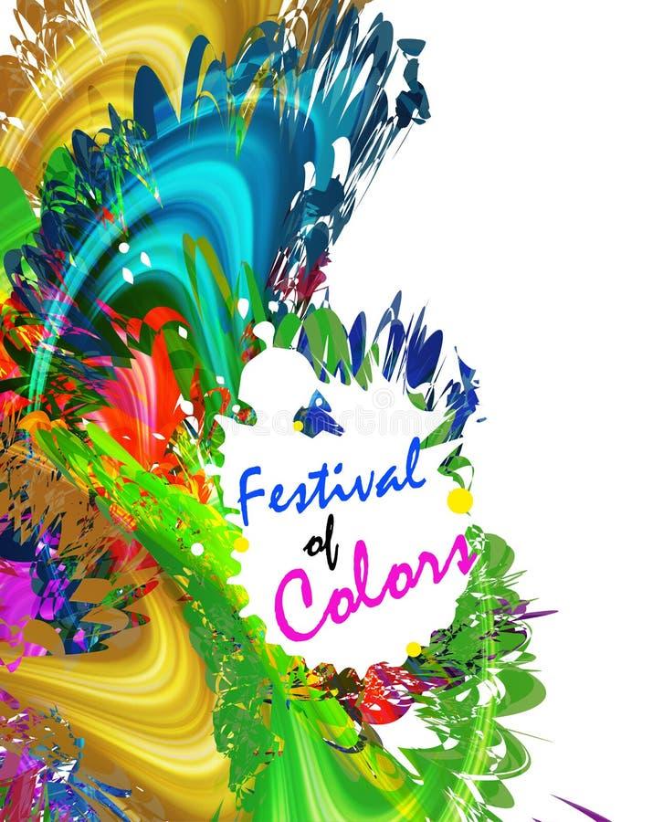 Ευτυχές φεστιβάλ Holi των χρωμάτων ελεύθερη απεικόνιση δικαιώματος