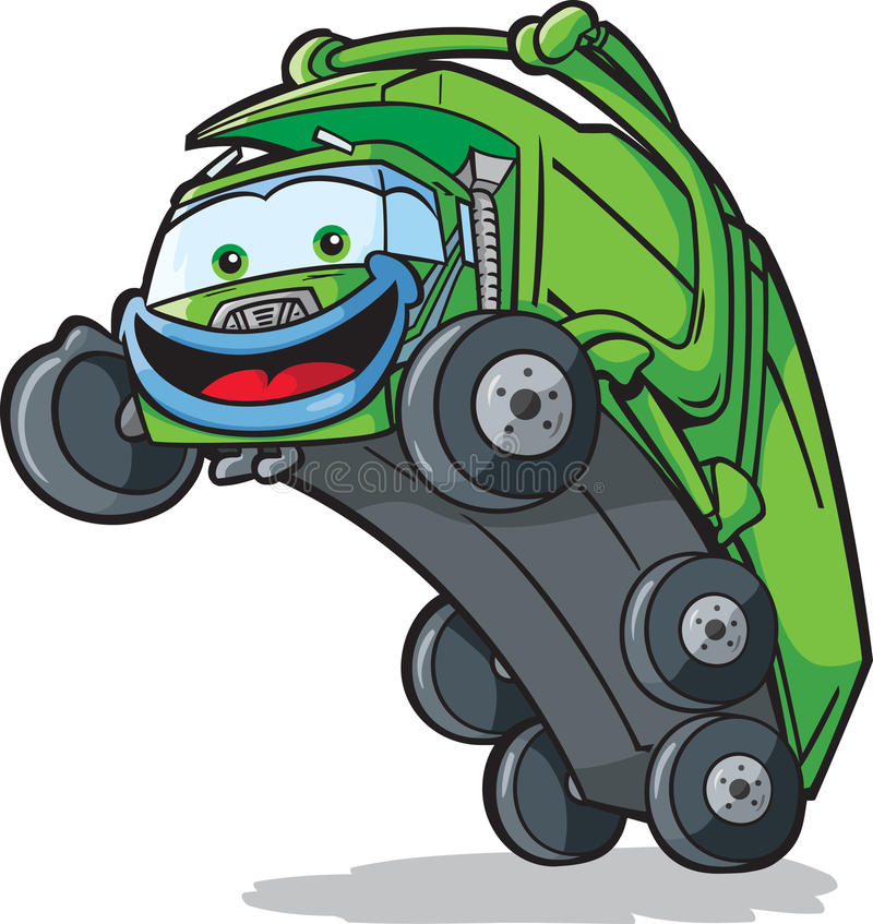Ευτυχές φορτηγό διάθεσης διανυσματική απεικόνιση