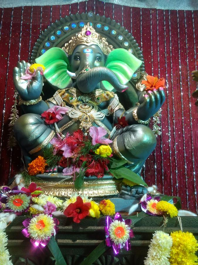 Ευτυχές chathurti ganesh παράδοσης Indiindian στοκ εικόνα