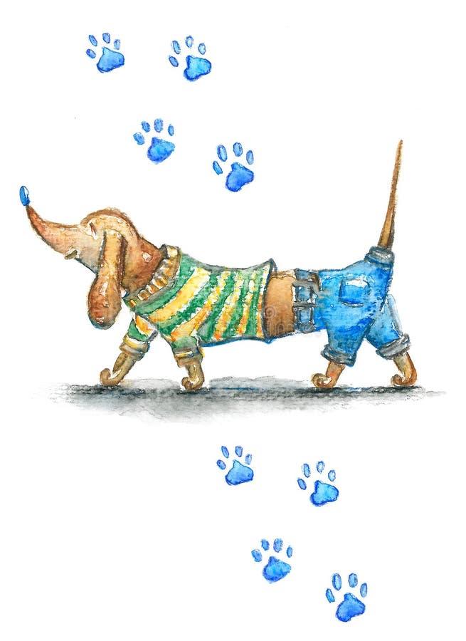 Ευτυχές dachshund διανυσματική απεικόνιση