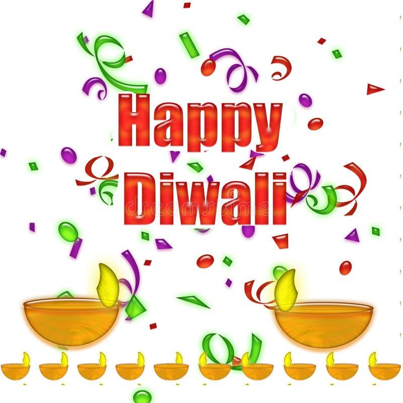 Ευτυχές Diwali το φεστιβάλ των φω'των απεικόνιση αποθεμάτων