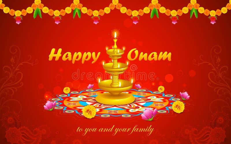 Ευτυχές Onam ελεύθερη απεικόνιση δικαιώματος