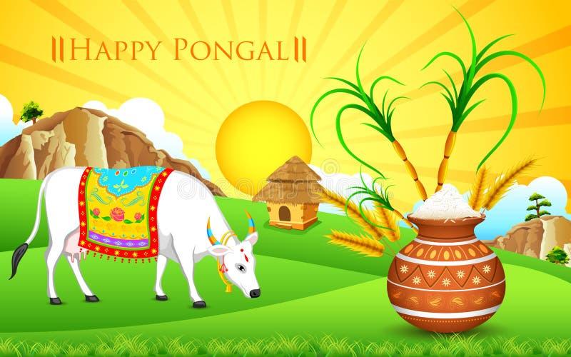 Ευτυχές Pongal διανυσματική απεικόνιση