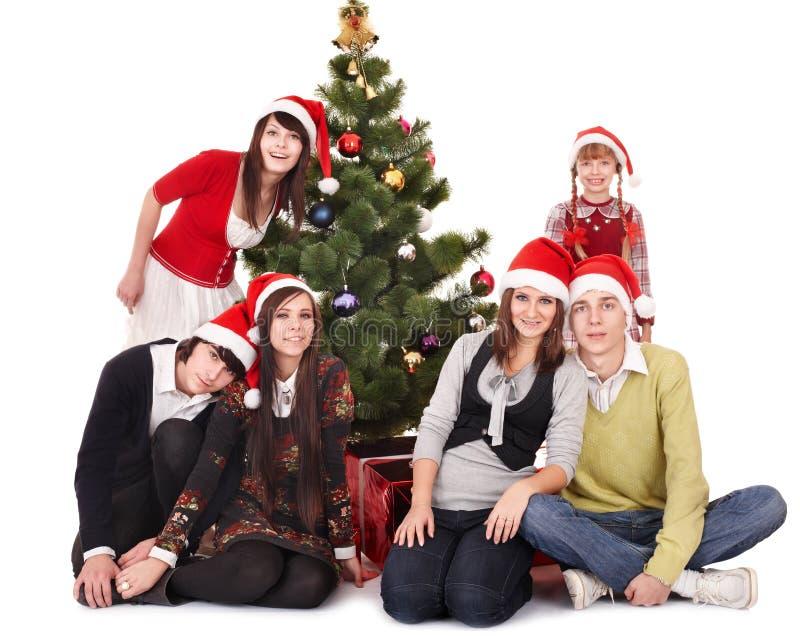 ευτυχές santa ανθρώπων καπέλω&n στοκ φωτογραφία με δικαίωμα ελεύθερης χρήσης