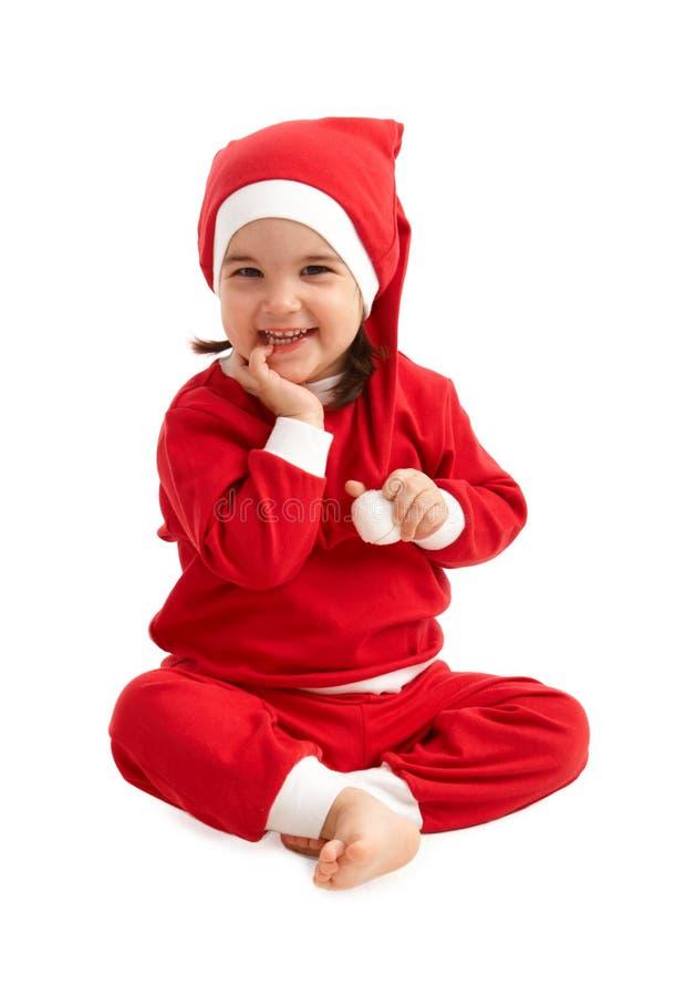 ευτυχές santa κοριτσιών κοσ&ta στοκ εικόνα