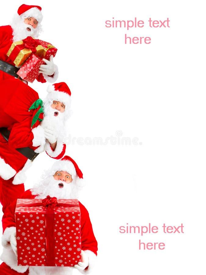 ευτυχές santa Χριστουγέννων στοκ εικόνα