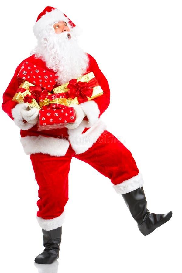 ευτυχές santa Χριστουγέννων στοκ φωτογραφίες με δικαίωμα ελεύθερης χρήσης