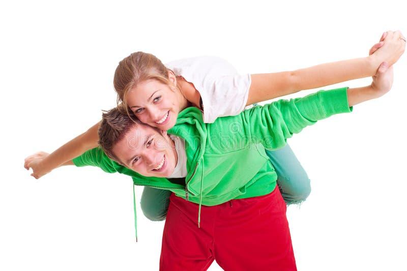 ευτυχές smiley ζευγών στοκ φωτογραφία με δικαίωμα ελεύθερης χρήσης