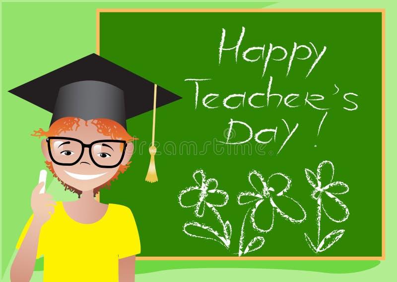 Ευτυχές Teacher& x27 κάρτα ημέρας του s στοκ φωτογραφία με δικαίωμα ελεύθερης χρήσης