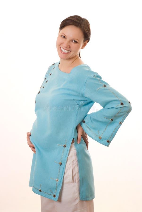 Ευτυχής έγκυος γυναίκα στοκ εικόνες