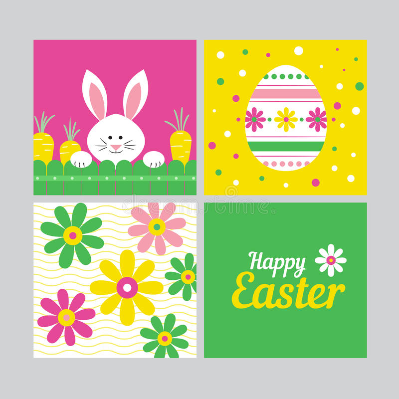 Ευτυχής έννοια καρτών Πάσχας ελεύθερη απεικόνιση δικαιώματος