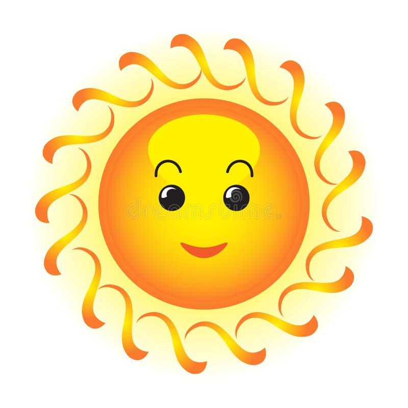 ευτυχής ήλιος διανυσματική απεικόνιση
