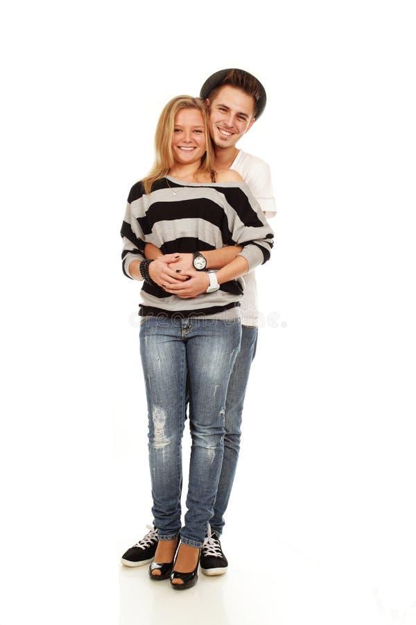 ευτυχής αγάπη ζευγών στοκ φωτογραφίες