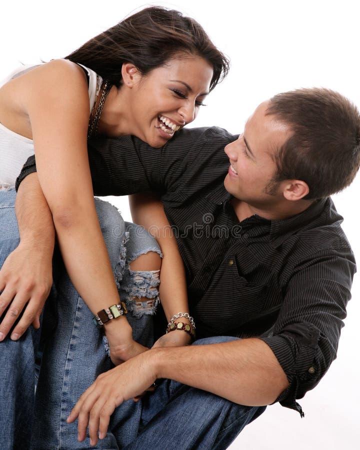 ευτυχής αγάπη ζευγών στοκ εικόνα