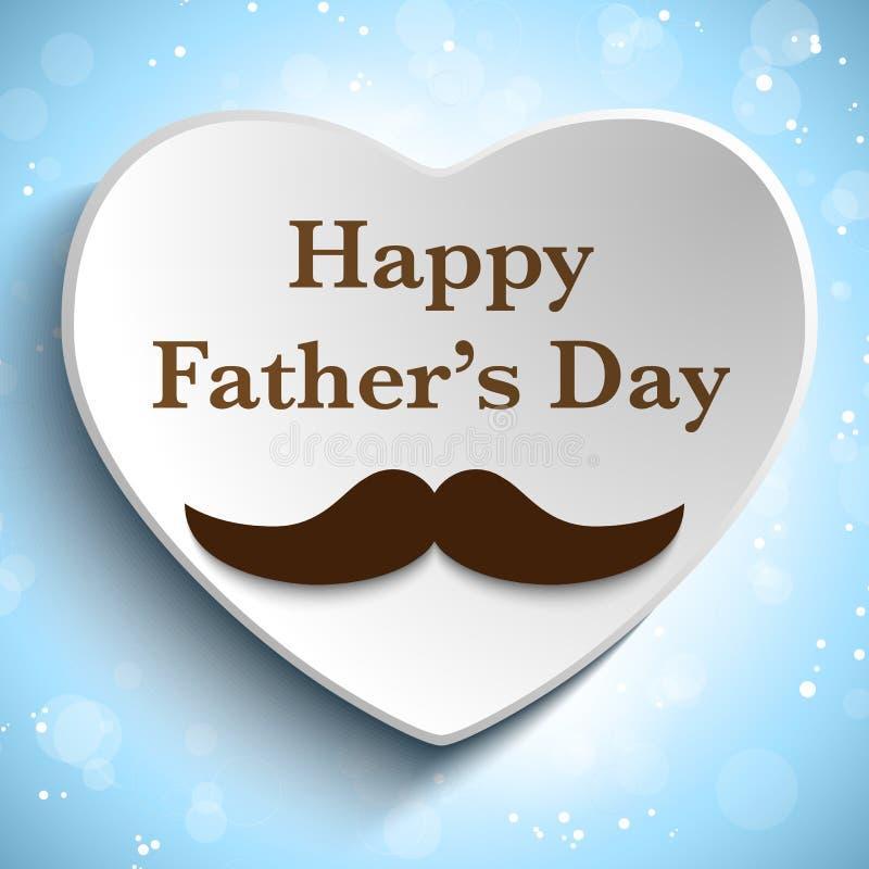 Ευτυχής αγάπη Mustache ημέρας πατέρων διανυσματική απεικόνιση