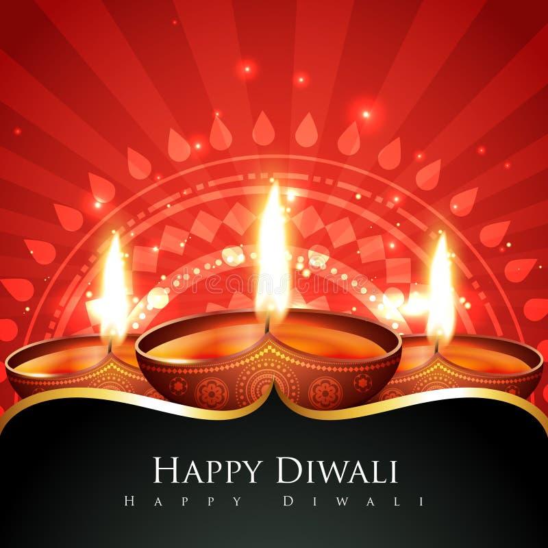 Ευτυχής ανασκόπηση diwali απεικόνιση αποθεμάτων