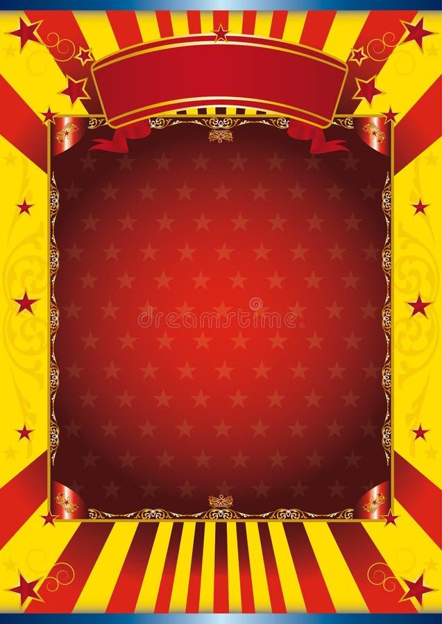 ευτυχής αφίσα τσίρκων διανυσματική απεικόνιση