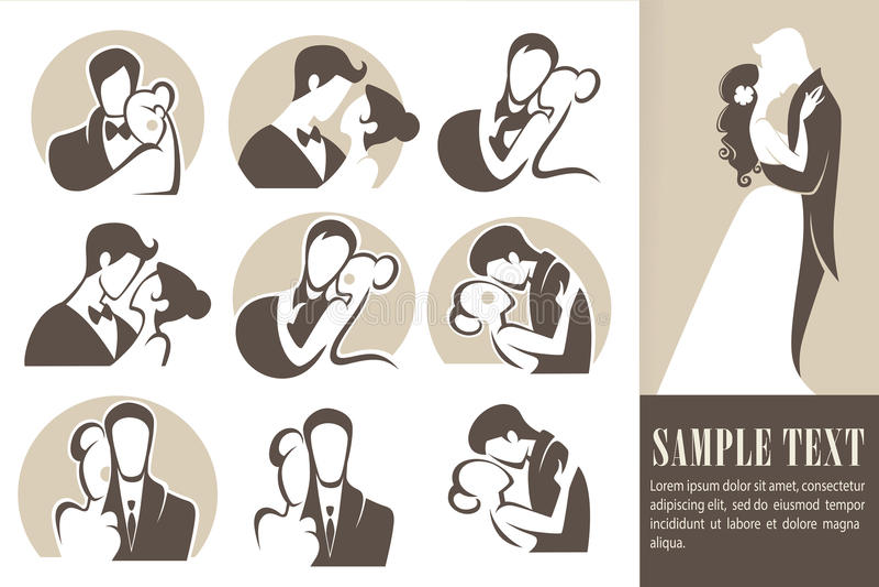 ευτυχής γάμος απεικόνιση αποθεμάτων