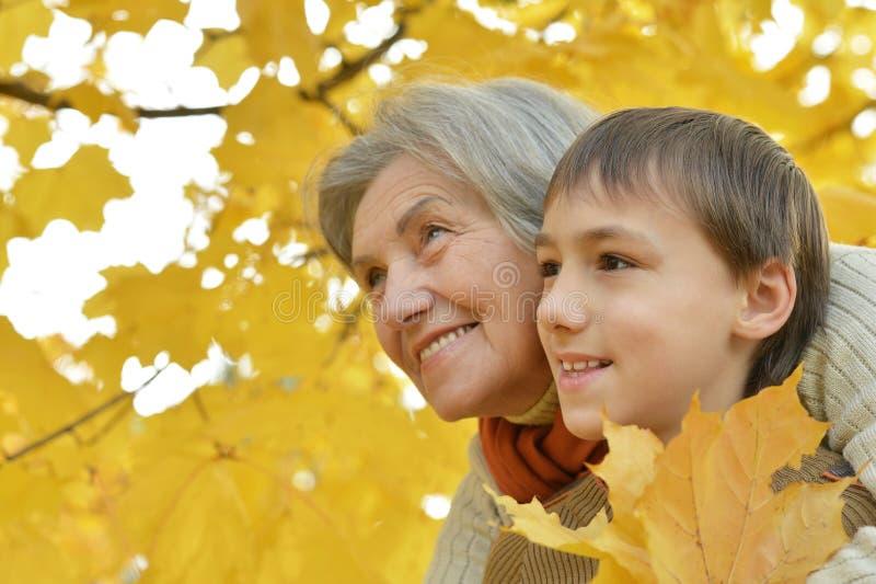 Download Ευτυχής γιαγιά με τον εγγονό της Στοκ Εικόνα - εικόνα από φιλία, childhood: 62722687