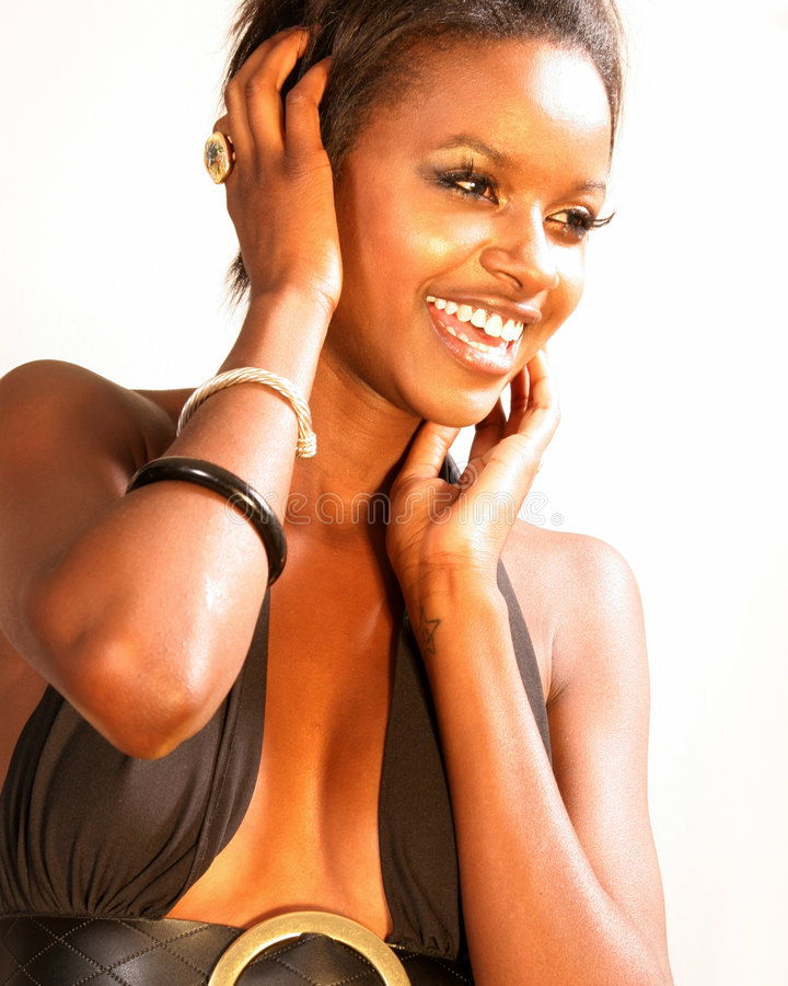 ευτυχής γυναίκα μόδας στοκ εικόνα με δικαίωμα ελεύθερης χρήσης