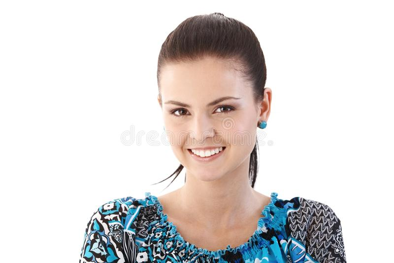 ευτυχής γυναίκα πορτρέτ&omic στοκ εικόνα με δικαίωμα ελεύθερης χρήσης