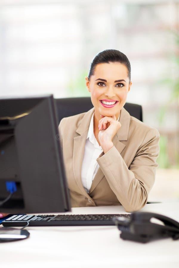 Γραφείο γυναικών σταδιοδρομίας στοκ εικόνες