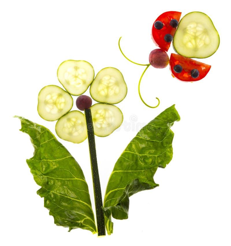 ευτυχής εικόνα από το λαχανικό στοκ εικόνες