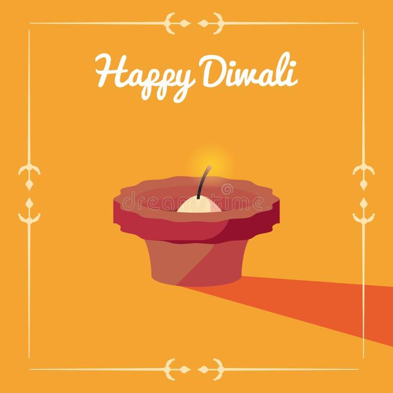 Ευτυχής εορτασμός Diwali ελεύθερη απεικόνιση δικαιώματος