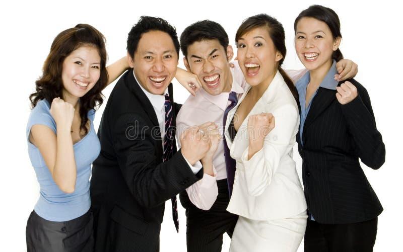 Ευτυχής επιχειρησιακή ομάδα στοκ φωτογραφία