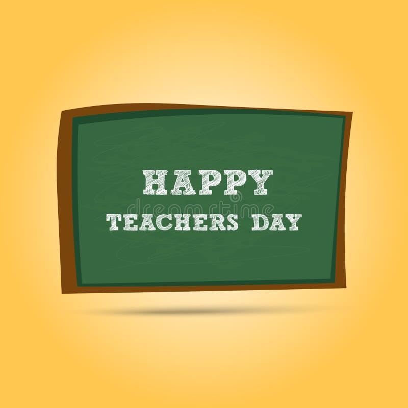 Ευτυχής ευχετήρια κάρτα ημέρας δασκάλων Επιστολές ημέρας δασκάλων στο σχολείο απεικόνιση αποθεμάτων